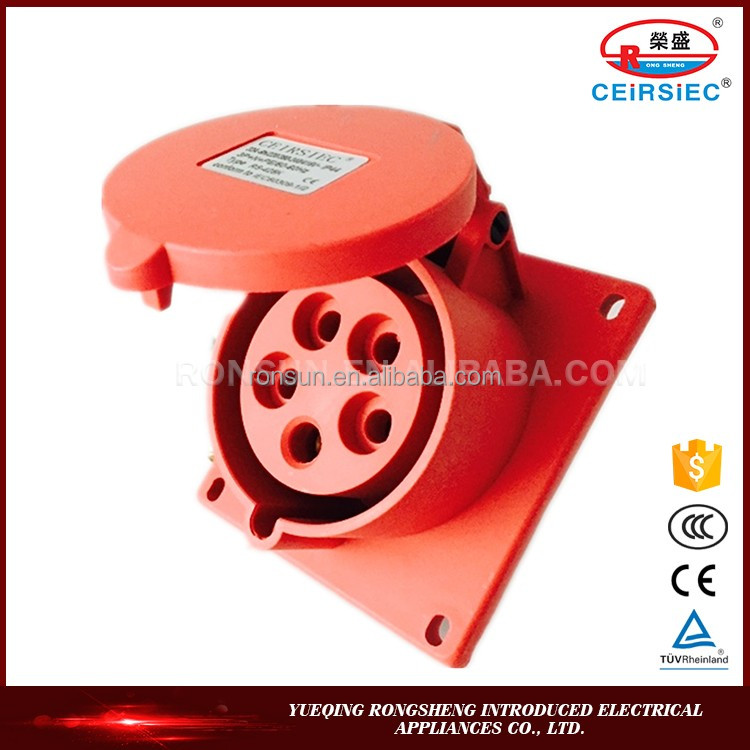 Manufacturer Industrial 32A CCC TUV industrial socket adapter