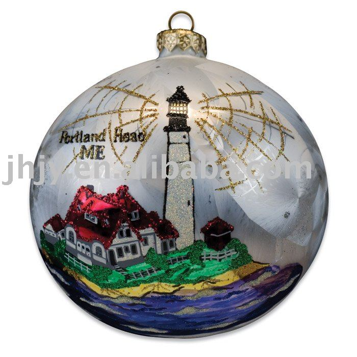 hand painted blown glass christmas ornaments view christmas glass ornaments yiqi product details from jianhu jingyi glass manufacture co - Blown Glass Christmas Ornaments