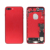 free shipping Wholesale red color battery door with small parts for iPhone 7 Plus