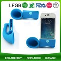 Silicone Mobile Mini Stereo Audio Horn Speaker