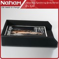 NAHAM Office Faux Leather A4 Letter File Tray