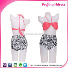 China Wholesale Hot New 2014 Xxxl Girls High Waist Sexy Swimwear