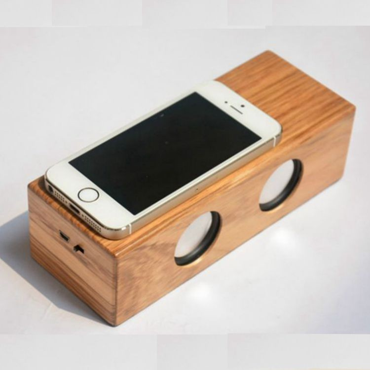 2016 New design originality wireless wood/boom magic touch induction speaker