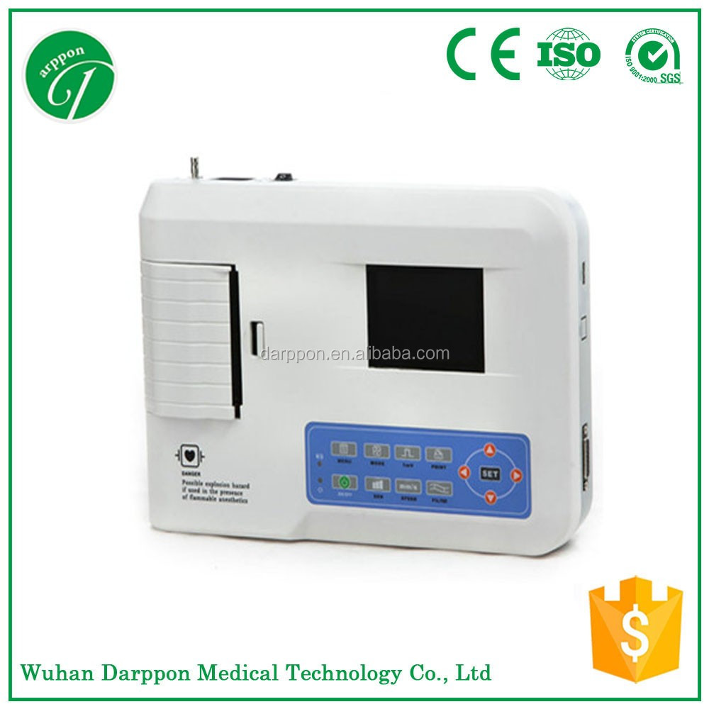 ECG monitor machine for hospital ECG/EKG machine 3 channel veterinary ecg