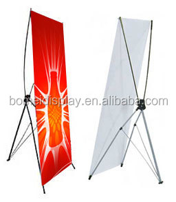 iron flexible bridge banner stand, advertising x stand display system