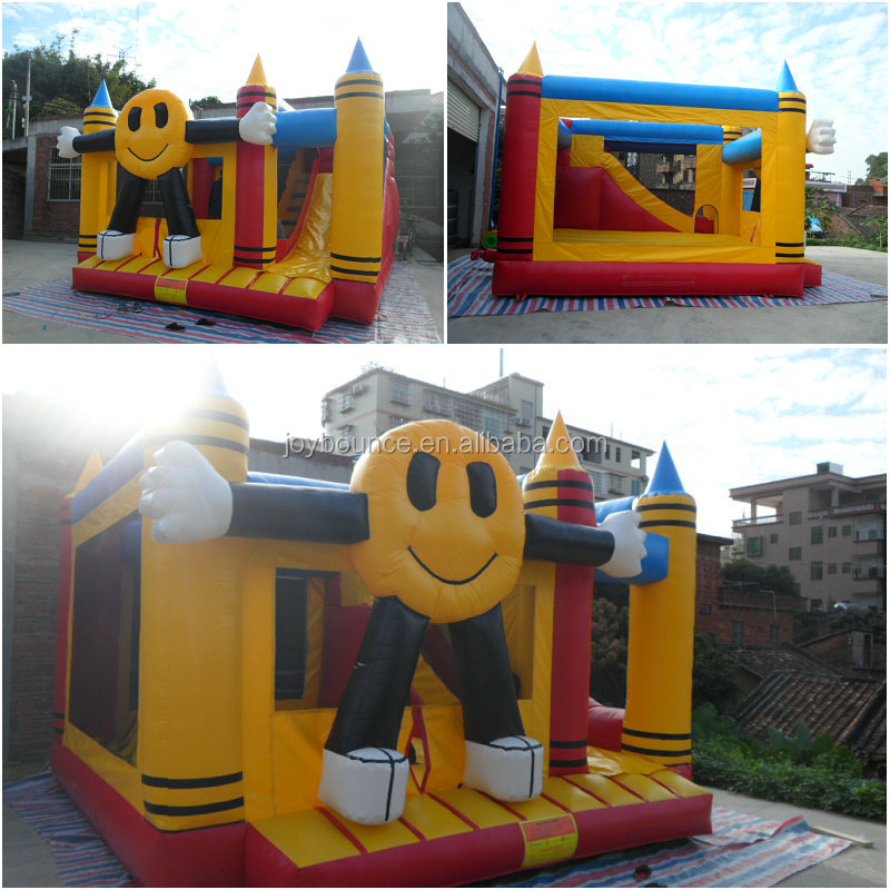 inflatable bouncer trampoline ,factory price happy cartoon inflatable jumping castle for sale