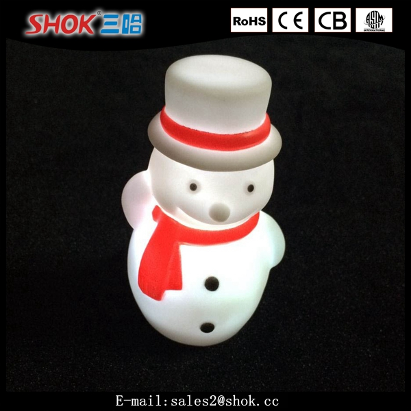 Christmas decorations indoor flashing led light plastic snowman