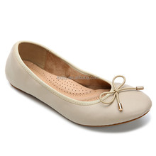 Soft and comfortable for women latest pu ballet flats wholesale