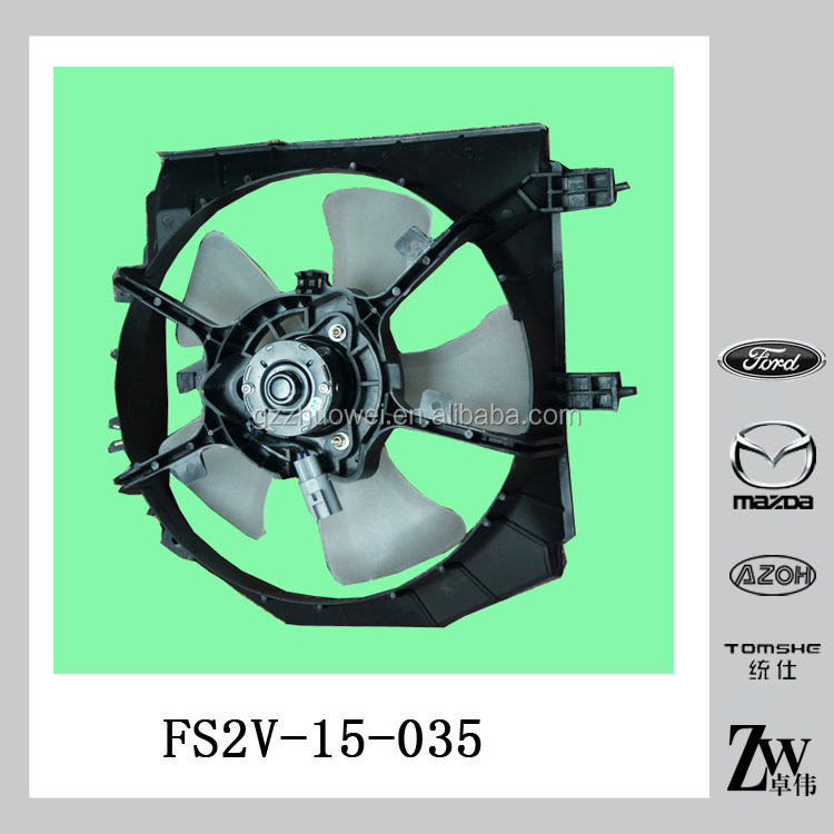 POWER MAZDA 323 BJ 12V CAR RADIATOR FAN MOTOR & CONDENSER COOLING FAN FS2V-15-035A / FS2V-15-035