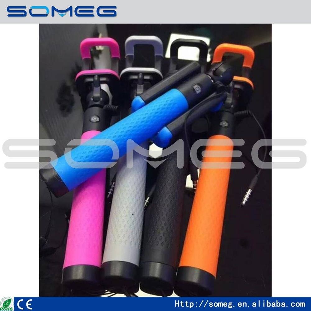 2015 Hot Sale, New Mini Extendable Handheld Fold Self-portrait Stick Holder Monopod for Your Beauty Travel 8 Candy Colors