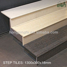 1300x300x18mm Stone Look Full Body Polished Ceramic Stair Tiles