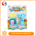 Newest fashion products blue plastic kids cartoon bubble gun toy