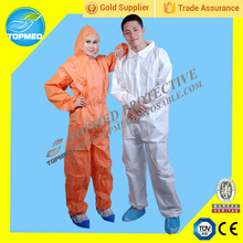 Disposable colorful PP+PE,SBPP,SMS Isolation gown, coverall, protective gown