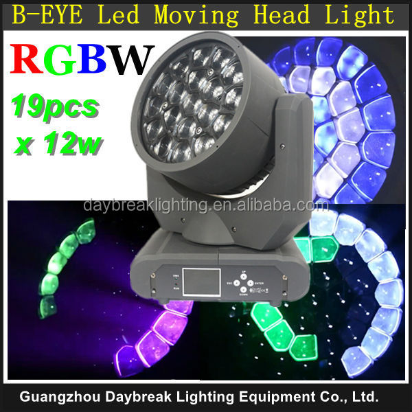 Stage new lighting Sharpy Bee Eye 19 x 12w Led moving head beam light B-EYE RGBW 4IN1 <strong>K10</strong> moving head