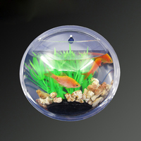 Beautiful round shape high clear acrylic wall mounted aquarium