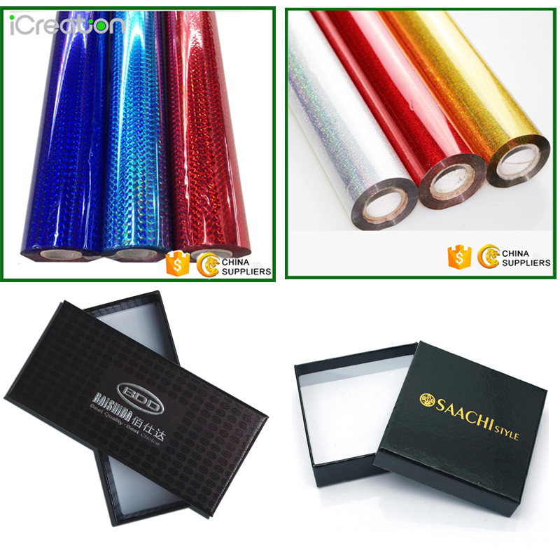 12micron Hot Selling Silver Blue Red Cheap Stock Holographic hot stamping Foil for Paper