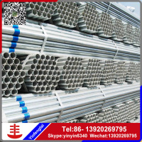 building material/hollow tube/metal/Structure large diameter fence thin wall Q195 Tianjin Galvanized steel