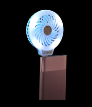 New products 2017 electronics accessories power bank used portable luminous light usb mini fan