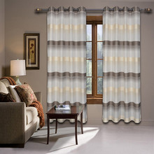 modern jacquard style light voile sheer window curtain panels