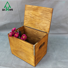 Simple Cheap Hanging Natural Rosewood Faux Wood Gift Box