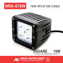 ATV UTV PILLAR Work light 2017 NEW spot square 48W led work lamp, 4000 lumen offroad 48w led work light
