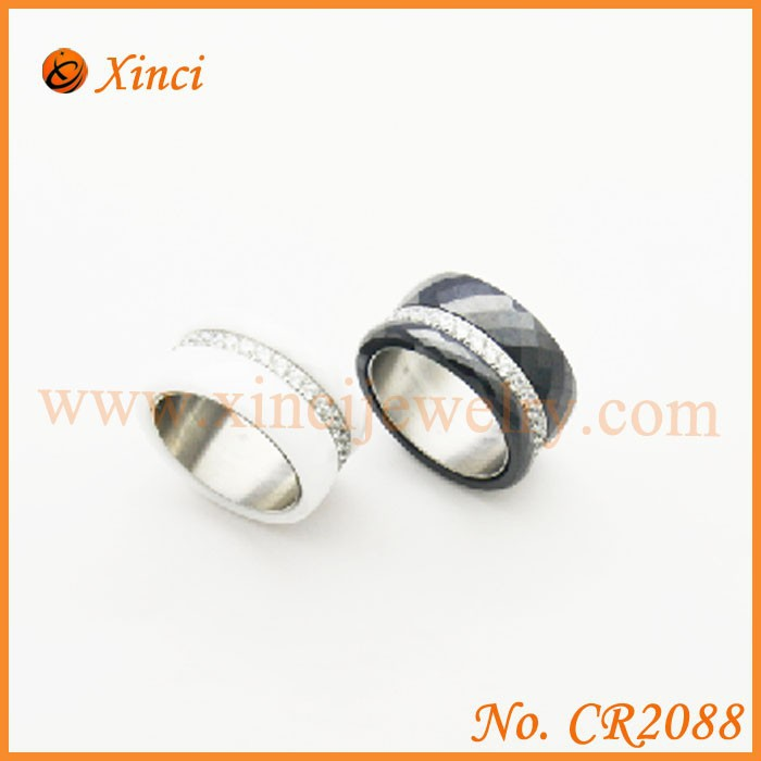 Hongkong jewelry wholesale men's ring with stone