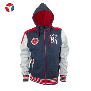 Factory Price Zipper Embroidery Men's Hoodies With High Quality
