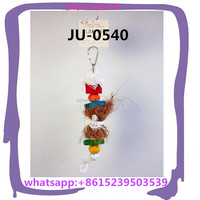 small colorful cockatoo bird chewing toys/cage hanging small bird toys