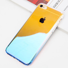 For Iphone 7 PC Phone Case,Anti Scratch Shockproof Optical Palting Gradient Color Hard PC Case Cover For iphone 8 X