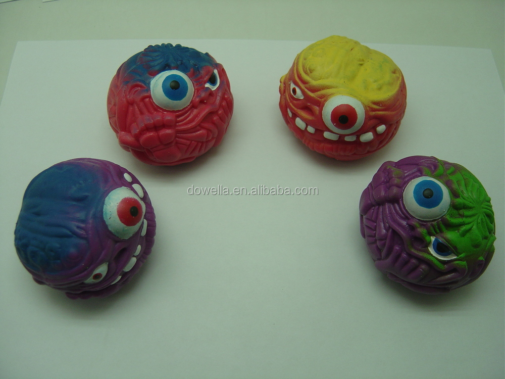 Squishy Eyeball Toy : Halloween Promotion Gift Soft Plastic TPR Monster eye ball Stretch Sticky Squishy Squeeze Toys ...