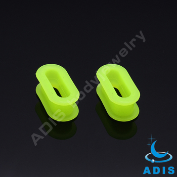 Fashion body piercing jewelry personalized flesh tunnel silicone plugs wholesale
