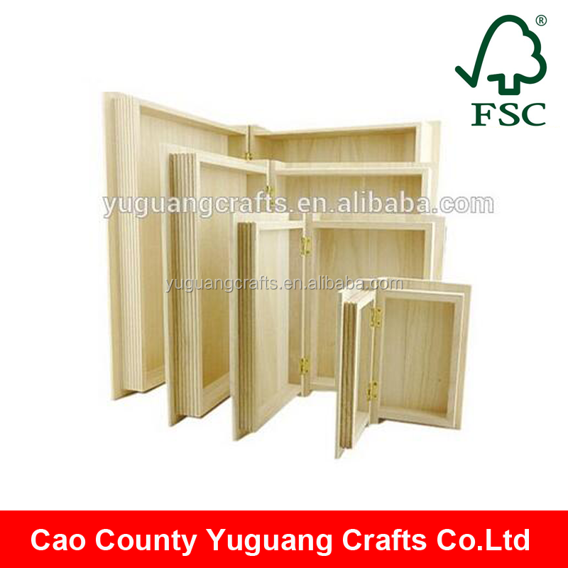 Yuguang Crafts Unfinished Fake Wooden Book Box