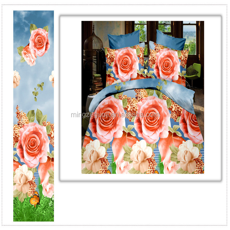 new fabric painting designs bed sheets material