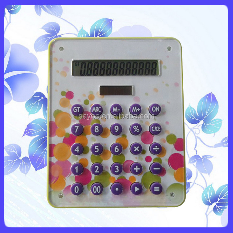 Classic colorful flat desktop calculator Acrylic calculator