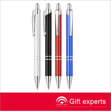 Very cheap metal ball pens stainless steel wire braid metal pen