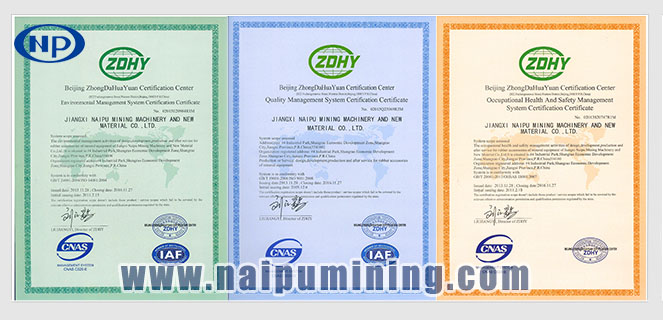 China supplier NAIPU Wear resistant high quality mining usage Ball Mill SAG Mill Liners rubber liner