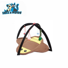 Funny Cute Soft Pop Up Pet Cat Bed Tent With Bell