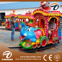 Beautiful led light and colorful paint track train rides, decoration trains for christmas