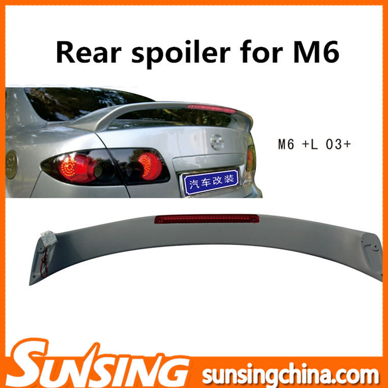 auto sopilers universal spoiler for cars OEM ABS 5 rear spoiler for mazda 6