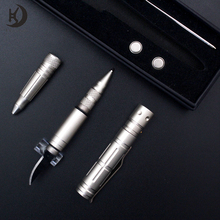 Outdoor camping aircraft aluminum self defense tactical multifunctional pen led with pocket knife