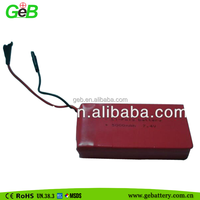 rechargeable lithium polymer battery pack for portable dvd player 7.4V 5000mAh