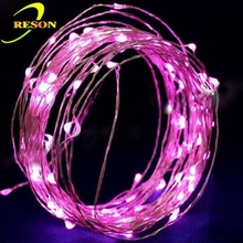20M warm white submersible led copper wire string lights coin battery powered for wedding event party decoration