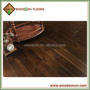 Cheap Stock and Quality Black Walnut Color Solid Acacia Wood Flooring