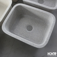 Small grain color undermount acrylic resin kitchen sink