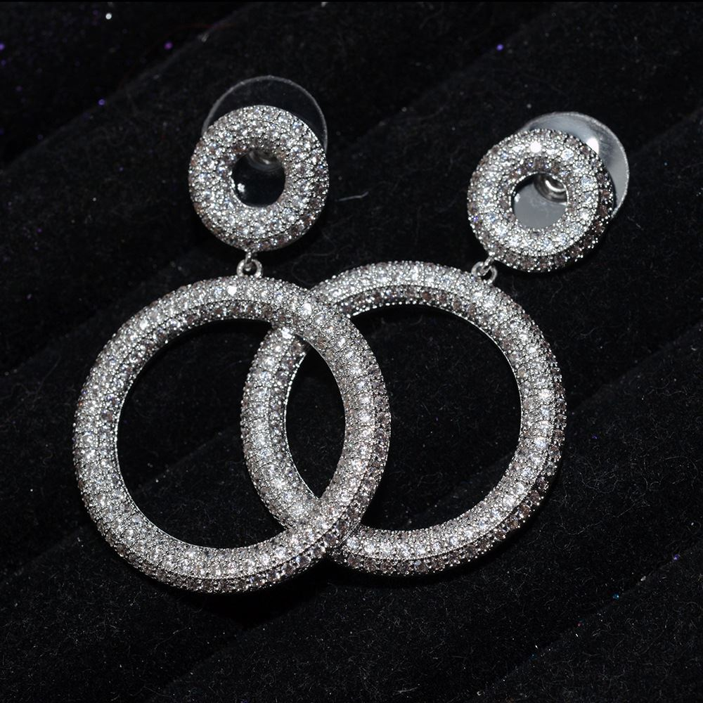 2017 Vintage Indian Women Crystal Round Circle Anti Allergy Earrings Europe Drop Earring