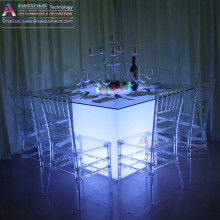 event wedding table led luminous hotel banquet table skirting