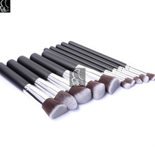 Professional Wood Make Up Brush Set Foundation Brushes Kabuki Makeup Brushes