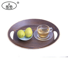 High quality wholesale wooden round lap serving trays platters