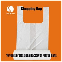 China factory supplier cheap PE die cut plastic bag for shopping
