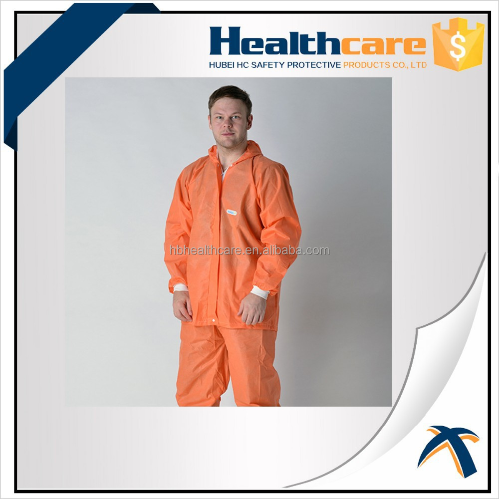 Disposable Breathable Safety SF Coverall with Hood